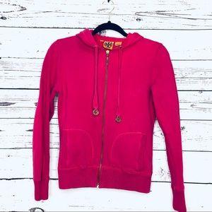 Tory Burch Hoodie in Bright Pink